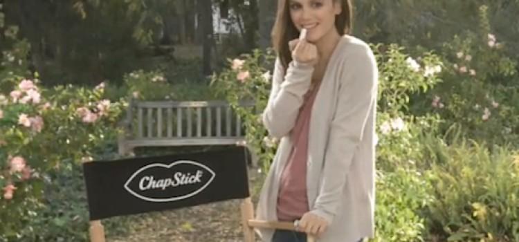 Actress Rachel Bilson teams up with Chapstick