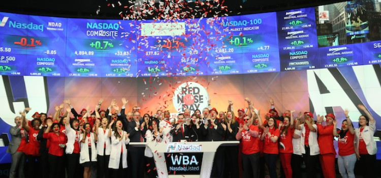 WBA brings Red Nose Day to Nasdaq