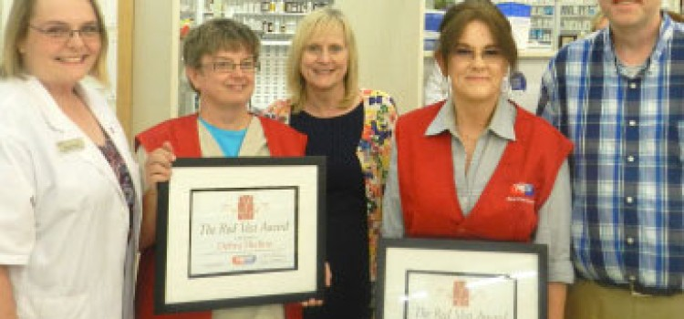 Fruth Pharmacy issues Red Vest Award