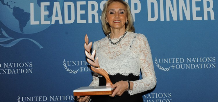 Barra accepts UN leadership award for WBA
