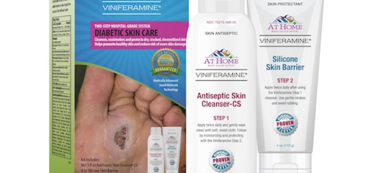 At Home Viniferamine kit aids diabetes skin care
