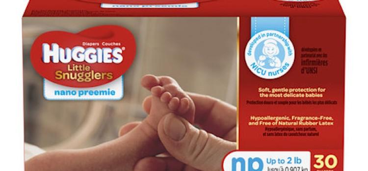 Huggies adds 'Nano' diaper to preemie line