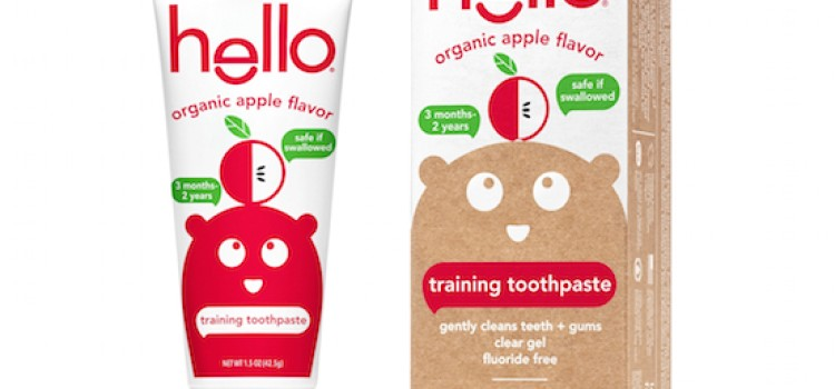 Hello rolls out Organic Apple Toddler Training Toothpaste