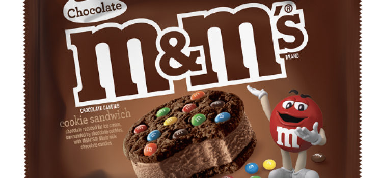 Mars unveils chocolate M&M's ice cream sandwich