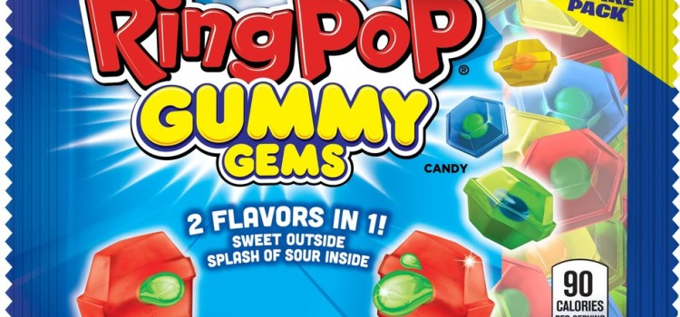 Bazooka Candy Brands introduces Ring Pop Gummy Gems candy