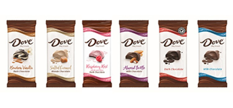 New Dove Chocolate Bars feature trendy flavors