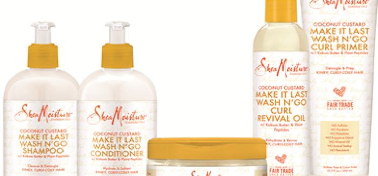 SheaMoisture intros Coconut Custard Make It Last Wash N' Go collection