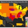 Mississippi, Alabama see flu activity gains in Walgreens' Flu Index