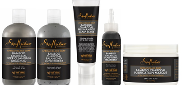 New SheaMoisture African Black Soap Bamboo Charcoal hair care now at Target