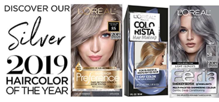 L'Oréal Paris, Vogue declare silver the must-have hair color for 2019