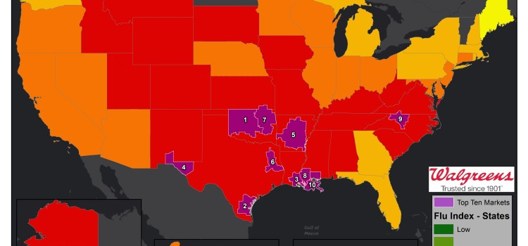The Midwest sees flu activity gains in Walgreens Flu Index