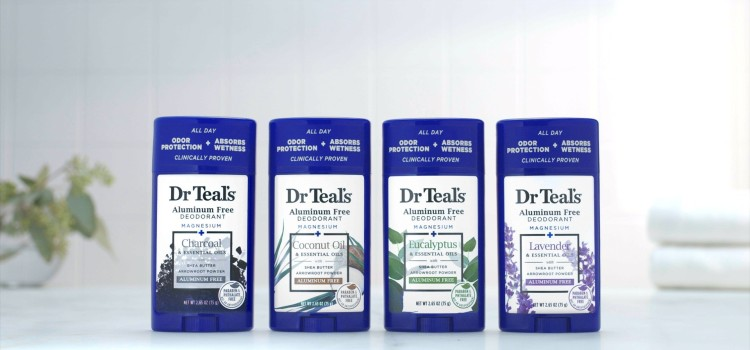 Dr Teal's rolls out aluminum free deodorants
