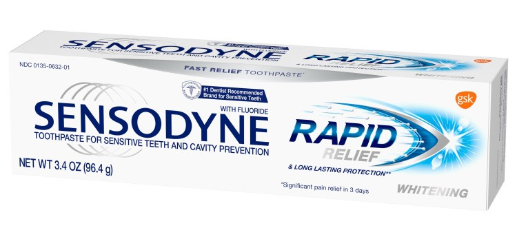 Sensodyne launches Rapid Relief Whitening toothpaste
