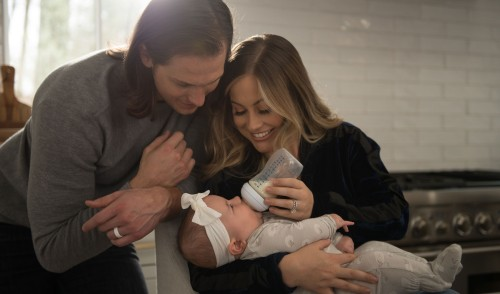 Enfamil partners with Shawn Johnson East and Andrew East