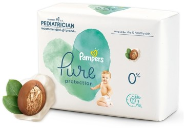 Pampers Pure now features plant-based liner enriched with shea butter