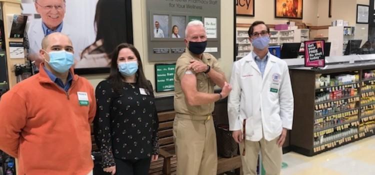 U.S. HHS Assistant Secretary for Health Giroir gets flu shot