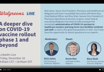 Walgreen's Live: A deeper dive on COVID-19 vaccine rollout Phase 1 and beyond