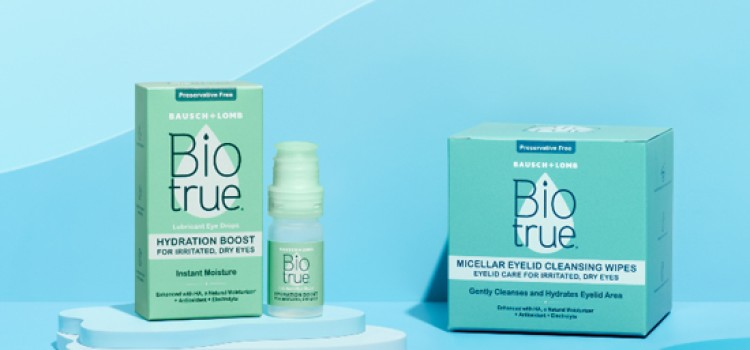 Bausch + Lomb launches Biotrue eye drops, cleansing wipes
