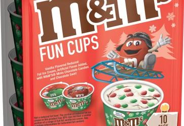 M&M'S Ice Cream unveils new seasonal Holiday Fun Cups