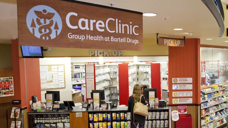 Bartell Drugs CareClinic counter