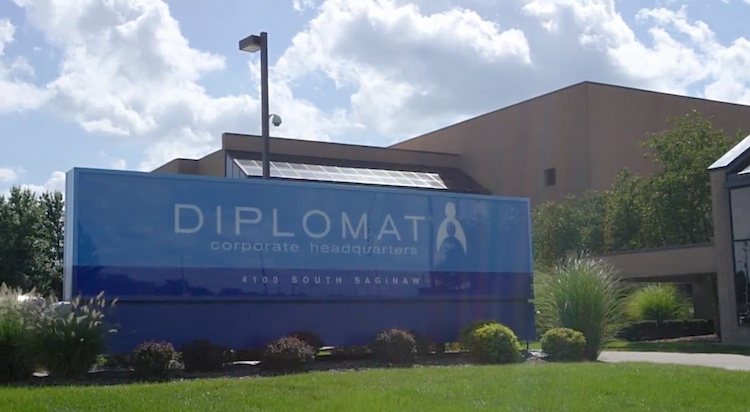 Diplomat corporate HQ sign
