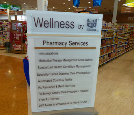 Rite Aid wellness services sign