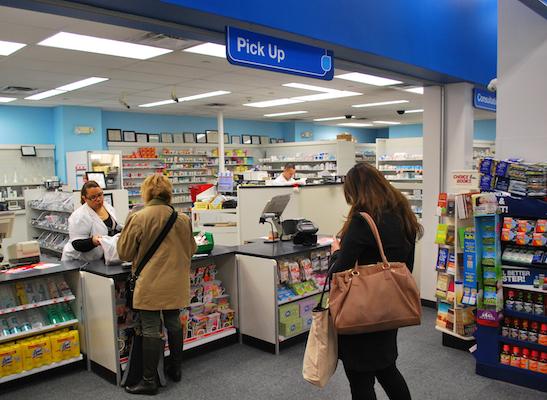 CVS pharmacy area