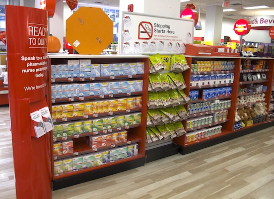CVS smoking cessation store display