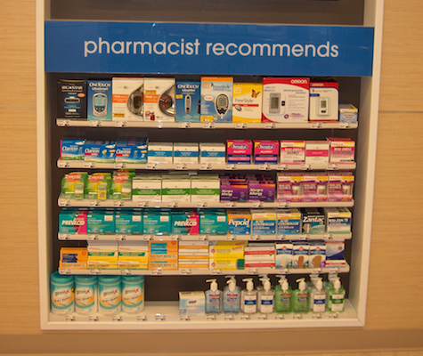 Duane Reade Rx OTC display