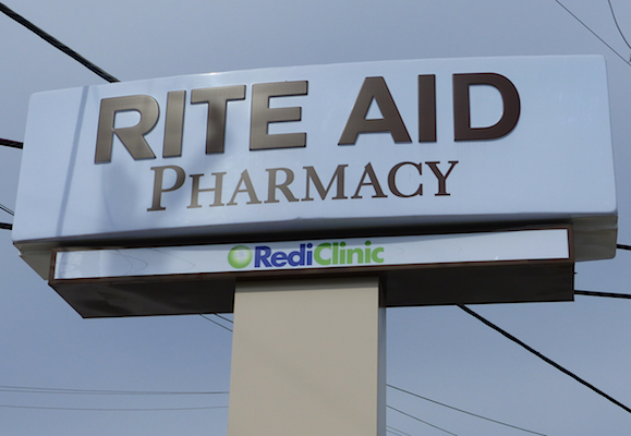 Rite Aid sign with RediClinic