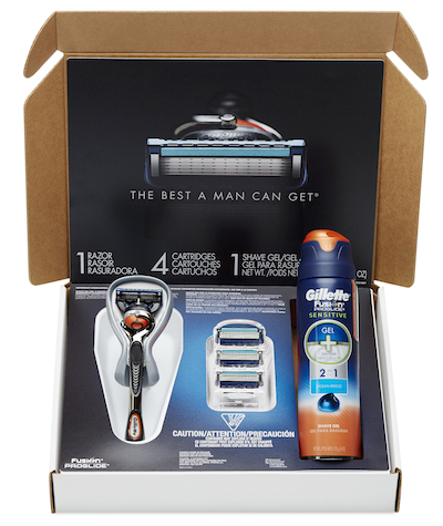 Gillette Shave Club package