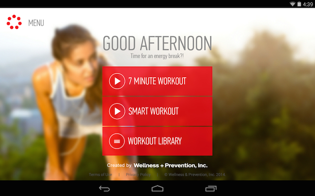 Johnson & Johnson Offical 7 Minute Workout app