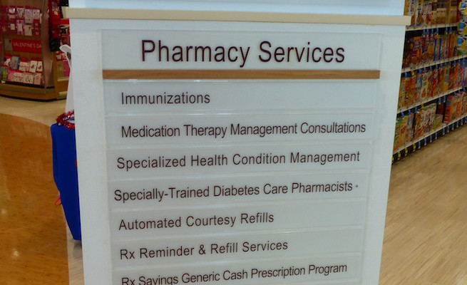 Pharmacy services sign_Rite Aid