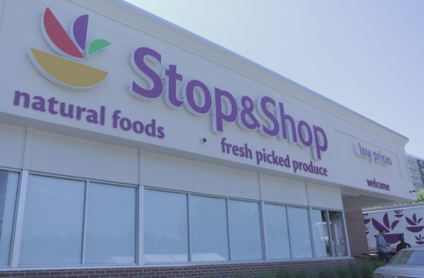Stop & Shop sign closeup copy