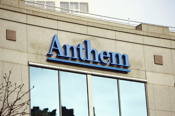 Anthem HQ sign closeup