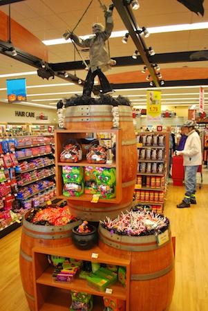 Bartell Halloween candy display