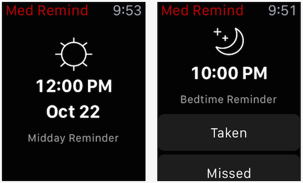 CVS MedRemind tool_Apple Watch