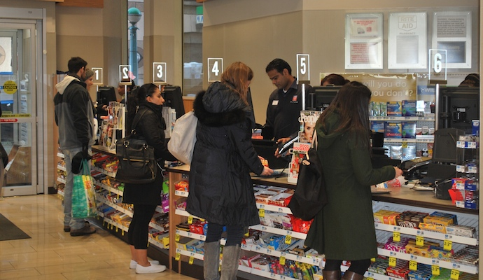 shoppers at checkout_Rite Aid 50th Street