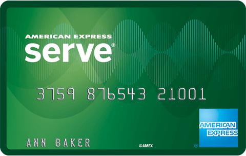 American Express Serve Free Reloads card