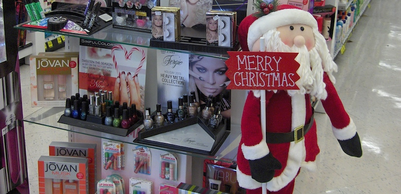 Christmas beauty display_Rite Aid