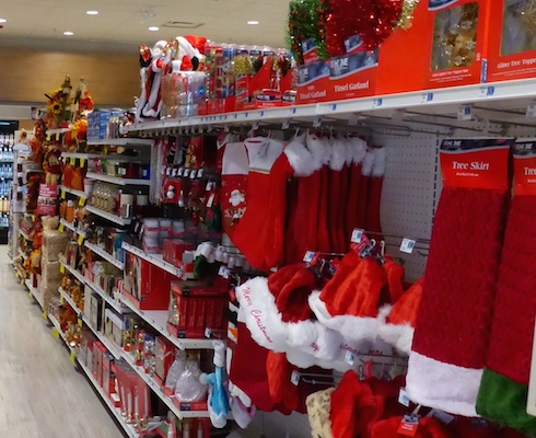Holiday seasonal aisle_Rite Aid 2015