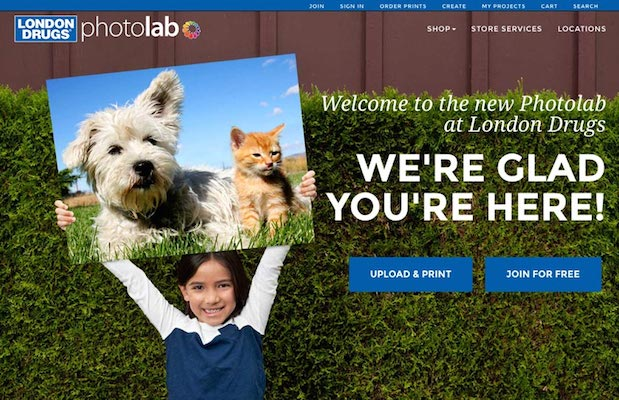 London Drugs new Photolab website