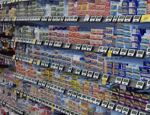OTC medicines on shelf