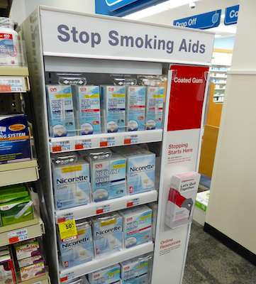 CVS Pharmacy smoking cessation display