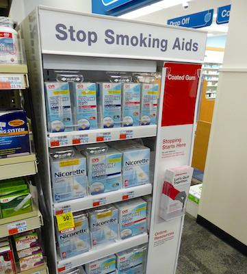 CVS Pharmacy smoking cessation display
