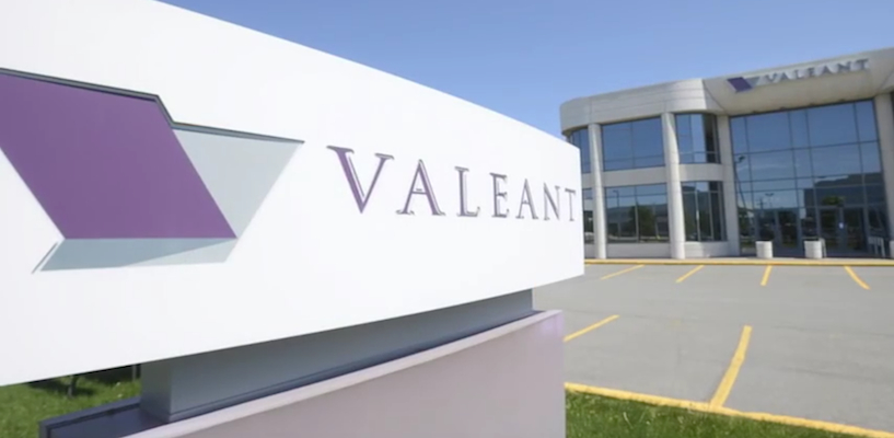 Valeant HQ sign closeup