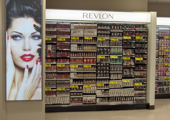 Revlon cosmetics display