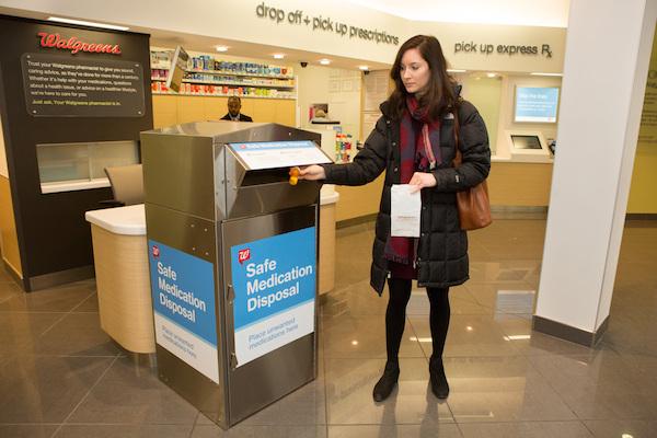 Walgreens medication disposal kiosk