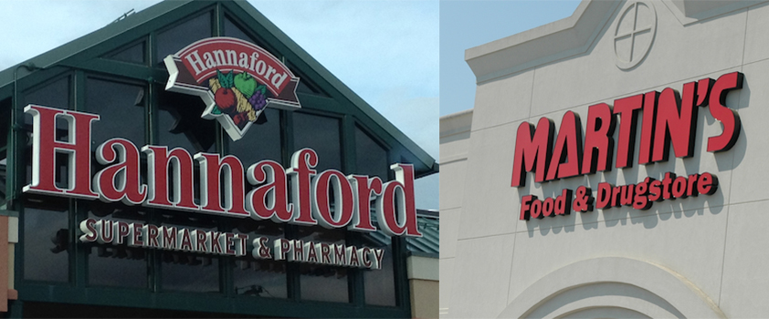 Delhaize Ahold merger_Hannaford Martins signs