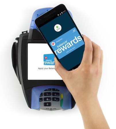 Android Pay device at terminal_Walgreens